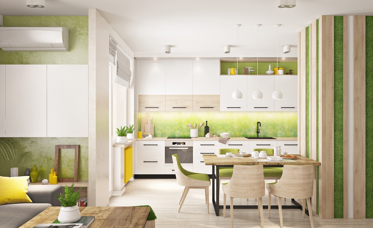 light-green-kitchen-walls homesdesining.com